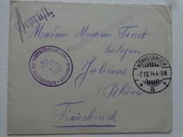 MILITARIA  GUERRE 14/18 LETTRE DU CAMP DE PRISONNIER KONIGSBRUCK  7 DEC 1914 - Old Paper