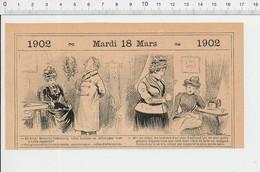 2 Scans Humour Nuits ?? Saint-Georges ??? Machine à Coudre Couturière   PF223A - Old Paper