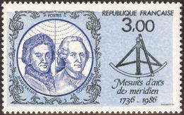 MAUPERTUIS, P.-L., CONDAMINE La, C. - France 1986 Michel # 2561 ** MNH - Physics, Surveying Expedition To Lapland - Geographie