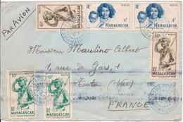 MADAGASCAR - LETTRE PAR AVION POUR TOULON FRANCE 1947 - Madagascar (1889-1960)