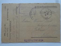 MILITARIA  GUERRE 14/18 LETTRE DU CAMP DE PRISONNIER KONIGSBRUCK  KRIEGSGEFANGENENSENDUNG GEPRUTT - Old Paper
