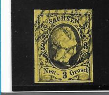 Sachsen Mi.Nr. 6 /  Nr.-Stempel Dresden - Sachsen