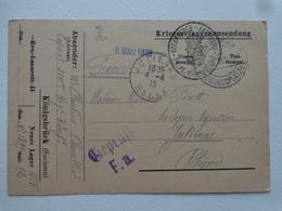 MILITARIA  GUERRE 14/18 LETTRE DU CAMP DE PRISONNIER KONIGSBRUCK  KRIEGSGEFANGENENSENDUNG GEPRUTT BIS - Old Paper