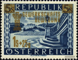 Austria 983 (complete.issue.) With Hinge 1953 Union - 1945-60 Unused Stamps