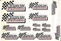 Autocollant Publicitaire Marque Racing Team  MARSAC Electronic 15 Autocollants - Stickers