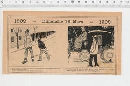 2 Scans Humour Pauvre Comme Job Thème Ulster Vêtement   PF223A - Old Paper