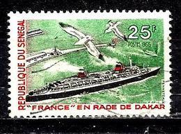 SÉNÉGAL 285° 25f Vert, Noir Et Rouge Tourisme Paquebot France à Dakar (10% De La Cote + 0,15) - Sénégal (1960-...)