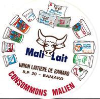 Autocollant Publicitaire Marque UNION LAITIERE DE BAMAKO Mali Diamètre 20 - Stickers