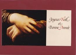CARTE DE BONNE ANNÉE  MONA LISA LA JOCONDE - Collections
