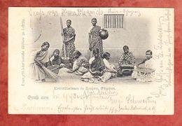 Kostschuelerinnen Tanjore Ostindien, EF Germania, Dresden Nach Moschi Ueber Tanga Deutsch-Ost-Afrika 1902 (57802) - Groupes D'enfants & Familles