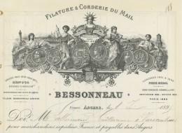 Filature Et Cordonnerie Du Mail Bessonneau à Angers . 1895 . - France