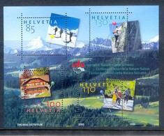 M85- Switzerland Helvetia 2005. 100 Years Nature Friends. Tourism Sport Mountains & Mountain Climbing. - Switzerland