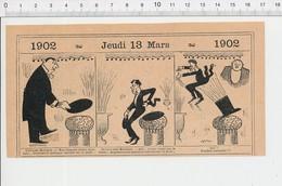 2 Scans Humour Chapeau Claque / Métier Jockey Rue D'Anvers à Pontoise PF223A - Old Paper