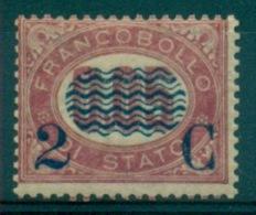 REGNO 1878 FRANCOBOLLI DI SERVIZIO SOPRASTAMPATI  2 C. SU 0,05 MLH - Servizi
