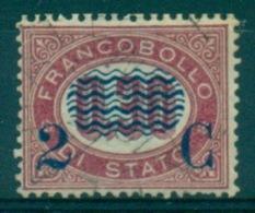 REGNO 1878 FRANCOBOLLI DI SERVIZIO SOPRASTAMPATI  2 C. SU 0,30   ANNULLO LIEVE - 1861-78 Vittorio Emanuele II