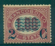REGNO 1878 FRANCOBOLLI DI SERVIZIO SOPRASTAMPATI  2 C. SU 1,00  MNH** - Servizi