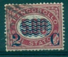 REGNO 1878 FRANCOBOLLI DI SERVIZIO SOPRASTAMPATI  2 C. SU 5,00  ANNULLATO - 1861-78 Vittorio Emanuele II