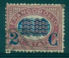 REGNO 1878 FRANCOBOLLI DI SERVIZIO SOPRASTAMPATI  2 C. SU 10,00  ANNULLATO - 1861-78 Vittorio Emanuele II