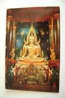 Thailand Temple  BUDDHA  THAILAND ASIA    VIAGGIATA  COME DA FOTO FORMATO PICCOLO - Tailandia