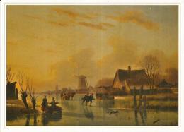 Paysage Hivernal Par Nicolaas Roosenboom, Pays-Bas,  Musée Des Beaux-Arts De BAKU, CP Neuve 20 X 14 Cm - Azerbaïjan
