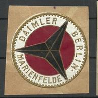 Germany Deutschland DAIMLER BENZ MERIENFELDE Old Vignette Siegelmarke Seal Stamp - Cinderellas