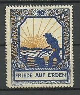 Deutschland Friede Auf Erden Alte Vignette Poster Stamp (*) - Erinnofilie