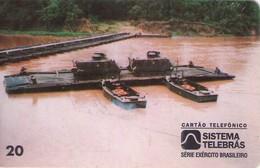 TARJETA TELEFONICA DE BRASIL (EJERCITO BRASILEÑO, PORTADA RIBBON - 07/96) (120) - Armada