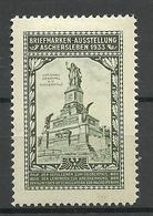 Deutschland Briefmarken-Ausstellung Aschersleben 1933 Denkmal Im Niederwald Alte Vignette Poster Stamp * - Erinnophilie
