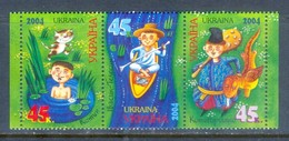 M92- Ukraine Ukrainian 2004. Folk. Tales. Cat. Fairy. Dragon. - Ukraine