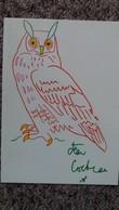 CPM LA CHOUETTE DE JEAN COCTEAU ED CARTES D ART - Tierwelt & Fauna
