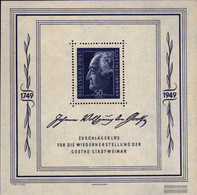 Soviet Zone (Allied.cast.) Mi.-number.: Block6 (complete Issue) Unmounted Mint / Never Hinged 1949 Goethe - Soviet Zone