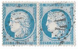 TIMBRES N°60/1 ;  PAIRE 101/102 G3 ;  ; TTB - 1871-1875 Cérès