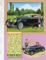 Panhard C5 Coupé  -  1934  -  Publicité D'epoch   -  CPM - Turismo