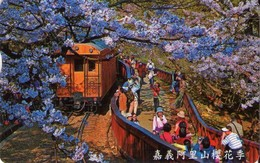 TARJETA TELEFONICA DE TAIWAN (CHIP). TRENES. (054) - Trains