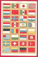 Pavillons, Drapeaux, Hongrie, Italie, Japon, Liberia, Luxembourg, Maroc, Mexique, Monaco... Larousse 1908 - Vieux Papiers
