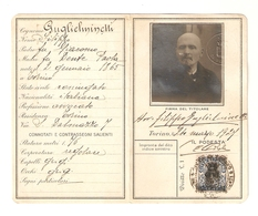"""C.I.--00001- CARTA IDENTITA """"REGNO D'ITALIA"""" COMUNE DI TORINO 24 MARZO 1927 - Historical Documents"""