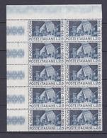 Timbre Italie N° 760** (bloc De (10) - 6. 1946-.. Republic