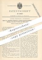 Original Patent - Ludwig Fredholm , Stockholm , Schweden , 1881 , Regulierung Der Erhitzung Von Kohlenwasserstoff   Gas - Historical Documents