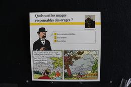 Fiche Atlas,TINTIN (extrait De, L'Affaire Tounesol) - Météorologie, N°20 Quels Sont Les Nuages Responsables Des Orages ? - Collections