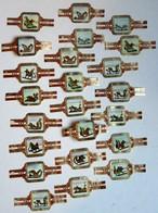 Lot De 23 Bagues De Cigare TAF Thème Luge Sleigh - Cigar Bands