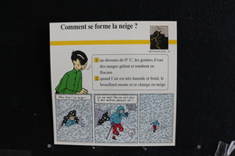 Fiche Atlas,TINTIN (extrait De, Tintin Au Tibet) - Météorologie, N°26 Comment Se Forme La Neige ? - Collections