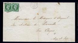 France N° 12 (x 2) S/Le Pc 3337 - TB Margé - Cote 320 - TB Qualité - 1853-1860 Napoleon III