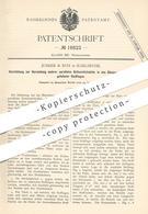 Original Patent - Junker & Ruh , Karlsruhe , 1881 , Herst. Paralleler Kettenstichnähte   Nähmaschine , Nähmaschinen !!! - Historical Documents