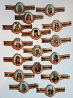 Lot De 17 Bagues De Cigare Cogetama Thème Indiens Sioux Apache Cheyenne - Cigar Bands