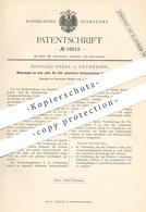 Original Patent - Edouard Frère , Antwerpen , 1881 , Schienensystem Für Eisenbahnen   Eisenbahn - Schienen   Bahn !! - Historical Documents