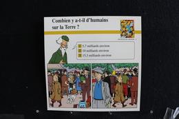 Fiche Atlas,TINTIN (extrait De,Le Secret De La Licorne)-Peuples Du Monde, N°26 Combien Y A-t-il D'humains Sur La Terre ? - Collections