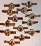 Lot De 13 Bagues De Cigare Cogetama Thème Indiens Sioux Apache Cheyenne - Cigar Bands