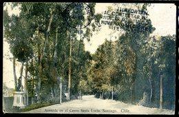 Cpa Du Chili Avenida En El Cerro Santa Lucia -- Chile -- Cachet Postal  Sept18-01 - Chili