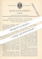 Original Patent - Erdmann Kircheis , Aue / Sachsen , 1881 , Riemen-Frictions- Fallwerk Per Fußbedienung   Metall !!! - Historical Documents