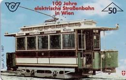 TARJETA TELEFONICA DE AUSTRIA. TRANVIAS. (043) - Trains